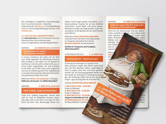 Bürgerstiftung Gerricus, Düsseldorf-Gerresheim | Faltblatt zu einer Veranstaltungsreihe der Kath. Kirchengemeinde St. Margareta in der Fastenzeit