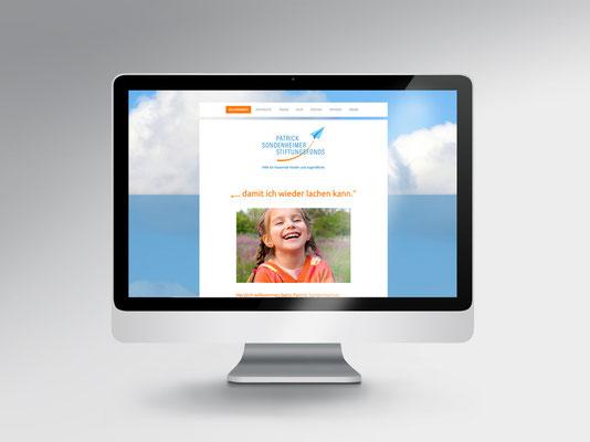 Website www.sonde-stiftungsfonds.de