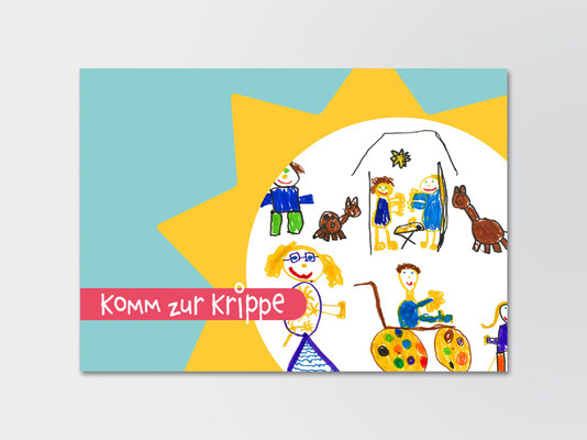 Einladungskarte zur Segnung schwerkranker Kinder | ©Andrea Osche – www.a-osche.de