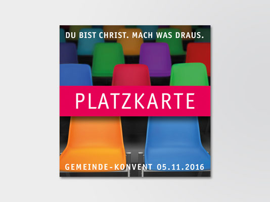 Einladungskarte der St. Margareta-Kirchengemeinde zum Kirchenkonvent