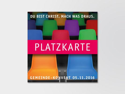 Einladungskarte der St. Margareta-Kirchengemeinde zum Kirchenkonvent | ©Andrea Osche – www.a-osche.de