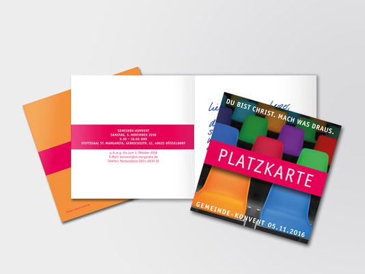 2016 | St. Margareta Düsseldorf-Gerresheim | Einladungskarte zum Kirchenkonvent