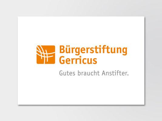 Bürgerstiftung Gerricus, Düsseldorf-Gerresheim | neue Wort-Bild-Marke mit Claim