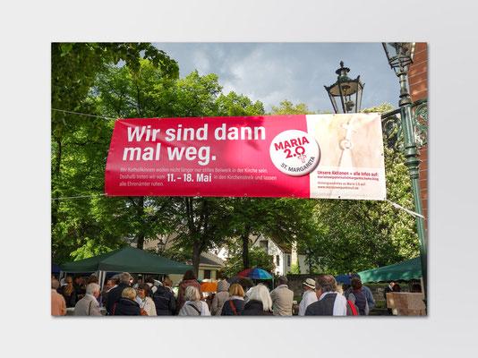 Banner Maria 2.0-Aktionswoche | Aktionstag am 11. Mai 2019 in Düsseldorf-Gerresheim