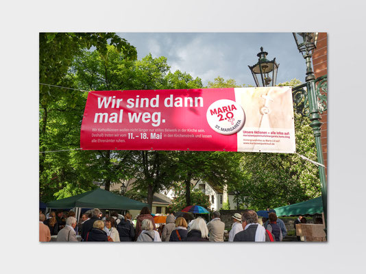 Maria 2.0 | Aktionswoche | Banner für Aktionstag am 11. Mai 2019 in Düsseldorf-Gerresheim