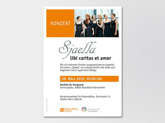 Bürgerstiftung Gerricus, Düsseldorf-Gerresheim | Konzert | A-Cappella-Ensemble «Sjaella« | Veranstaltungsplakat