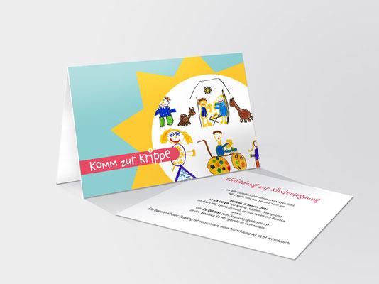 Einladungskarte zur Segnung von schwerkranken Kindern