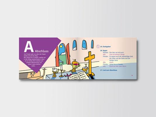 St. Margareta, Düsseldorf | Broschüre für Kommunionkinder | Illustration: ©Timon Osche