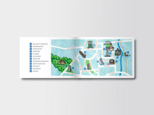 Bürgerstiftung Gerricus, Düsseldorf-Gerresheim | Gerresheimführer für Kinder | Innenseiten | ©Illustration: Timon Osche