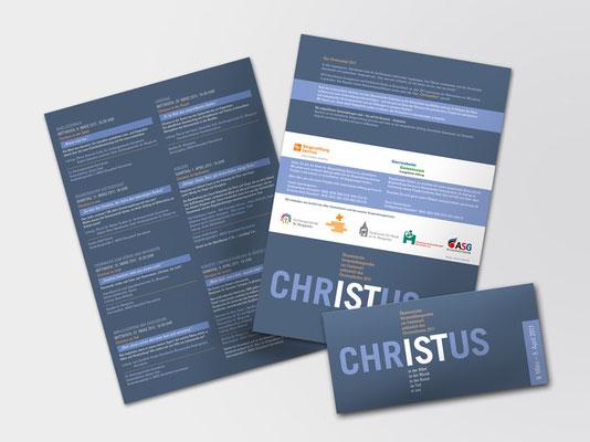 Faltblatt zu einer Veranstaltungsreihe im ökumenischen Christusjahr 2017