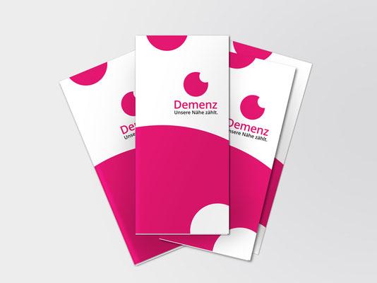 Runder Tisch Demenz, Düsseldorf | Faltblatt-Vorlage zum individuellen Bedrucken mit aktuellen Informationen