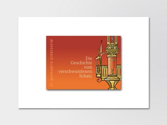 Broschüre für Kinder zum Kirchenschatz von St. Margareta, Düsseldorf | Titelseite | Illustration: ©Timon Osche