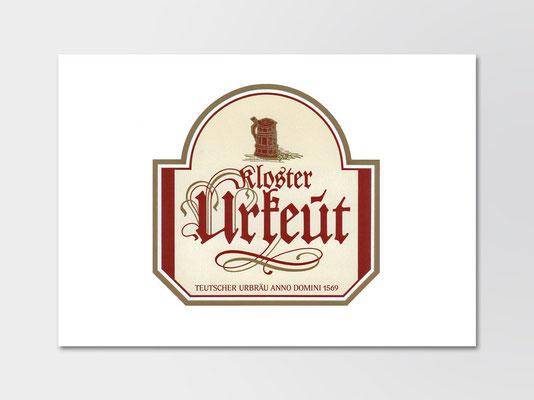 Kloster Urkeut |Gestaltung Flaschenetikett | Vorderseite
