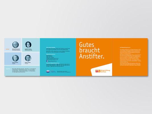 Bürgerstiftung Gerricus, Düsseldorf-Gerresheim | Image-Faltblatt | Gesamtansicht Außenseiten