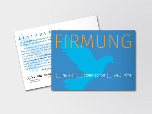2015 | St. Margareta Düsseldorf-Gerresheim | Einladungskarte für Firmlinge