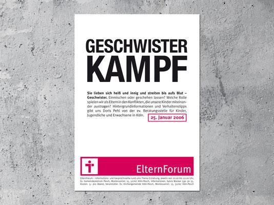 Ev. Kirchengemeinde Köln-Pesch | Veranstaltungsreihe »Elternforum« | Plakat