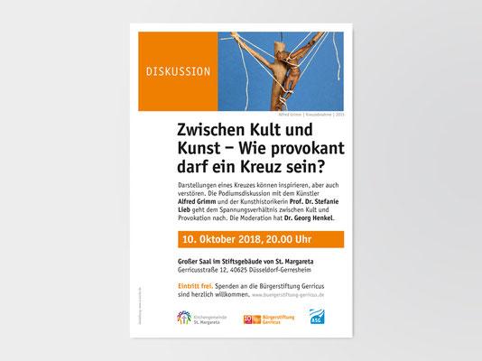 Bürgerstiftung Gerricus, Düsseldorf-Gerresheim | Ausstellung | Veranstaltungsplakat