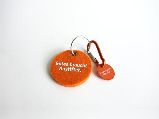Give Away | Schlüsselanhänger und Einkaufswagen-Chip | ©Andrea Osche – www.a-osche.de