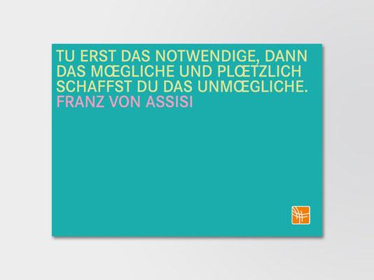 Bürgerstiftung Gerricus, Düsseldorf | Postkarte als Eigenwerbung | Entwurf