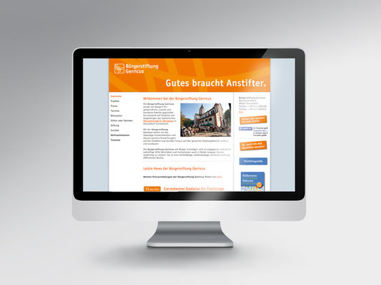 Bürgerstiftung Gerricus, Düsseldorf-Gerresheim | Website der Stiftung | neuer Header