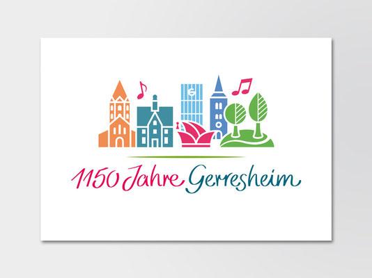 Stadt Düsseldorf | Jubiläumslogo 1150 Jahre Gerresheim