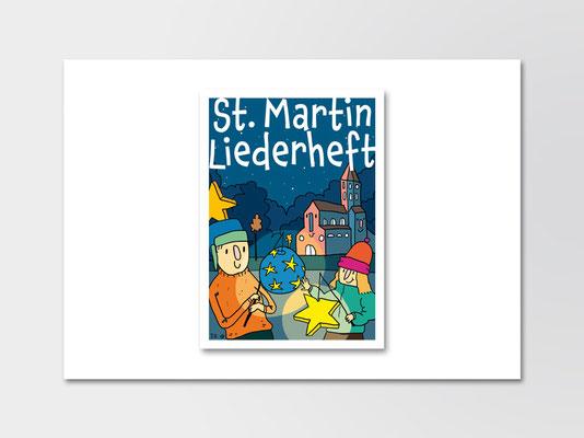 Bürgerstiftung Gerricus, Düsseldorf-Gerresheim | St-Martin-Liederheft | Umschlag Titel | ©Illustration: Timon Osche