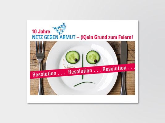 Netz gegen Armut, Düsseldorf | Resolution | Karte zum Eintragen von Wünschen/Forderungen auf der Rückseite