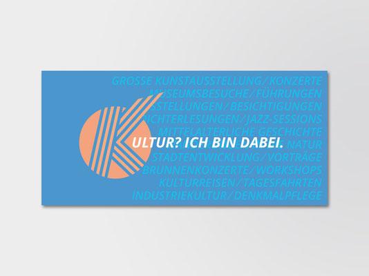 Postkarte des Kulturkreises Gerresheim e. V. zur Mitgliederwerbung