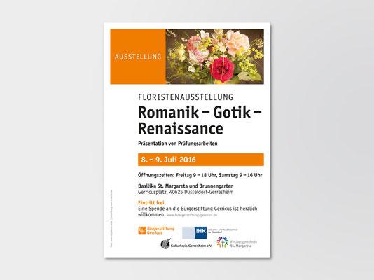 Bürgerstiftung Gerricus, Düsseldorf-Gerresheim | Ausstellung Floristen | Veranstaltungsplakat