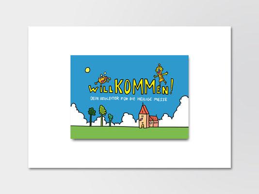 St. Margareta Düsseldorf-Gerresheim | Broschüre für Kommunionkinder | Umschlag Titel | Illustration: ©Timon Osche