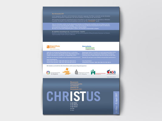 Faltblatt mit ökumenischen Veranstaltungen anlässlich des Christusjahres 2017 | Außenseite