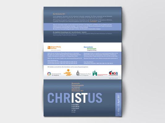 Faltblatt mit ökumenischen Veranstaltungen anlässlich des Christusjahres 2017 | Außenseite | ©Andrea Osche – www.a-osche.de