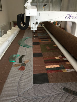 machine quilting - matelassage professionnel en France - atelier LE QUILT émoi