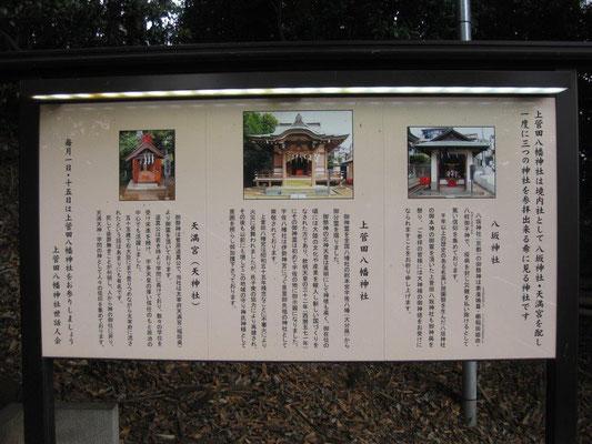八幡神社案内板