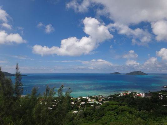 Blick von oben auf die Lagune