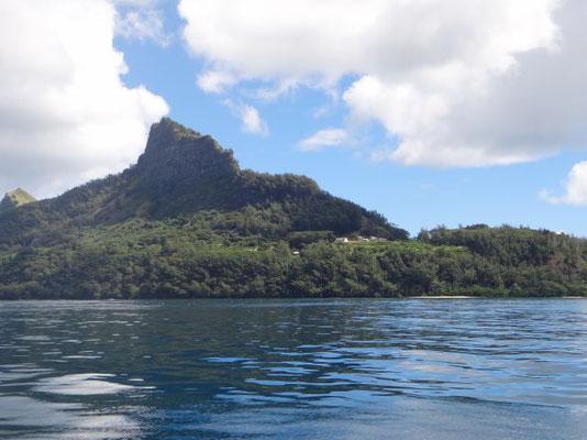Hinein bei der Riffeinfahrt nach Mangareva