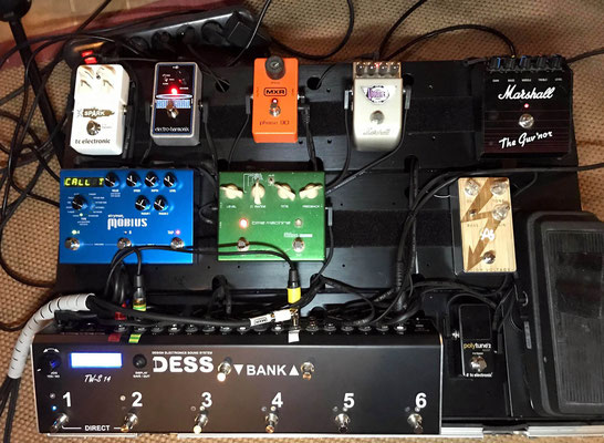 Switcher Pedalboard, DESS, Effect, switching system, Amp, Splitter, Audio system