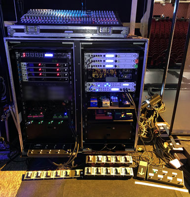 Rack Jean Luis Aubert, Sample Video, Sample Audio, DESS, Switcher, Midi Brain, Cerveau Midi, Merger Midi, Guitar, Effects, Amp