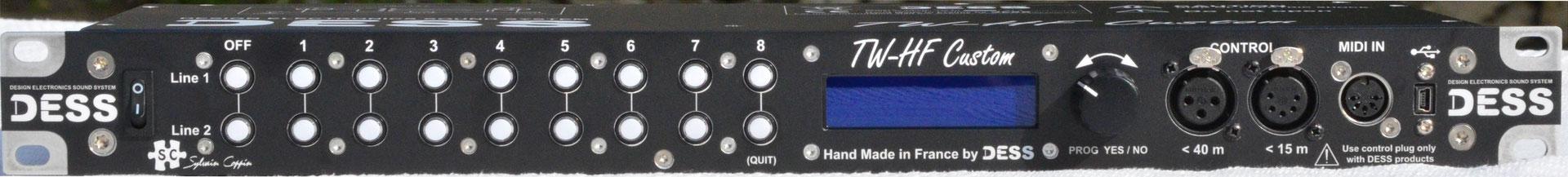 TW-HF Rackmount, Sélécteur symétrique, Midi, Switching, System, HF, dess, sélecteur basse impédance, Scène Pro
