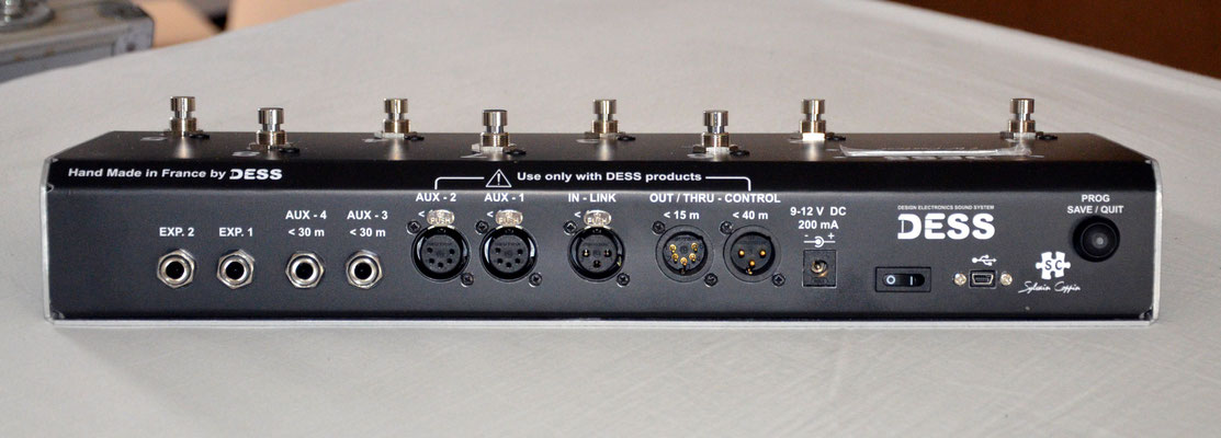 Télécommande pour sélecteur symétrique HF, Footswitch, TW-Control Custom, Jean Louis Aubert, DESS, foot controler, Multicolore, LCD