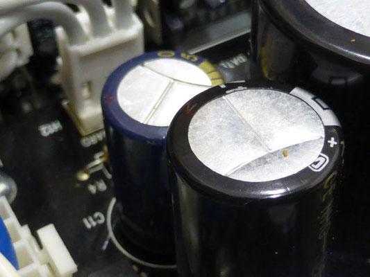 電源回路を中心に高圧の電解コンデンサーを交換