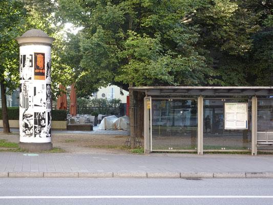 Umsetzung an der Litfaßsäule am Dachauplatz (Regensburg).