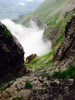 Cheminée de Platé - Photo by Mathieu Montagne
