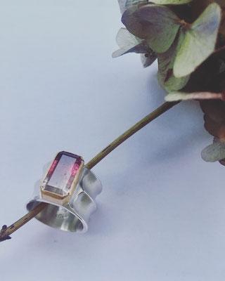 Turmalin Ring Silber Feingold