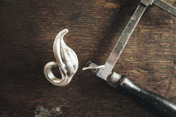 Schwung Ring Silber