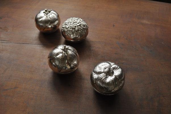 桜、紫陽花、桔梗、椿 サイズ:7x7cm  素材:silver925