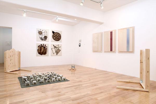 《ノーマンズランドから両岸の火事は想像できるか》/2012/インスタレーション/Gallery K「日本コラージュ・2012」展