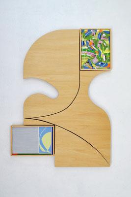 《domain(い・し B - い・し B')》/2015/520×750×30/パネルにアクリル、木、金具