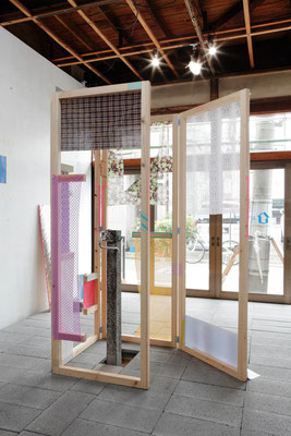 《SYNTAX(for many windows, many curtains and a room》/2013/ミクストメディア