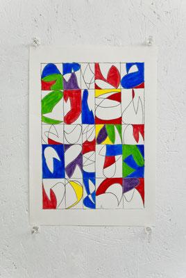 《ドローイング》/2015/210×297/紙に鉛筆、水彩